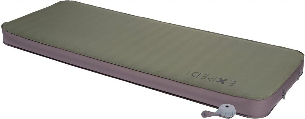 Army green color of Exped Megamat Insulated Self inflating sleeping pad