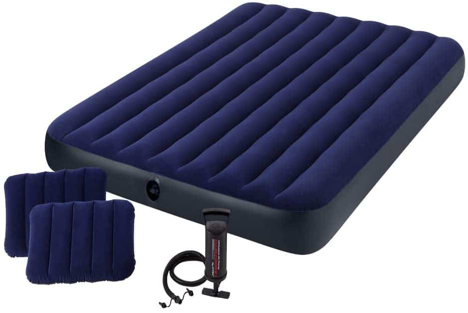 Royal blue Intex Classic Downy Airbed with pillow and air pump