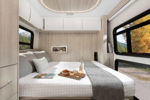 clean and elegant inside view of a camping car