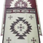 11 Fireside Patio Mats Navajo Breeze Burgundy And Beige 9 ft. x 18 ft.