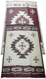 Fireside Patio Mats Navajo Breeze Burgundy And Beige 9 ft. x 18 ft.