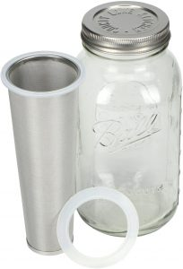 14. Cold Brew Mason Jar Coffee Maker by Country Line Kitchen