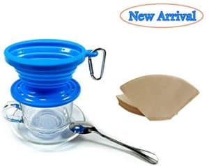 15.Kuke Silicone Pour-Over Collapsible Coffee Dripper