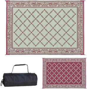 2 Reversible Mats Outdoor Patio RV Camping Mat