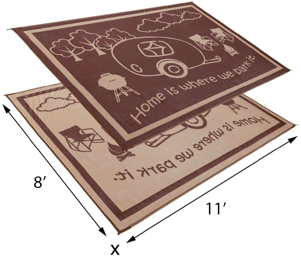 Stylish Camping RV Home Mat