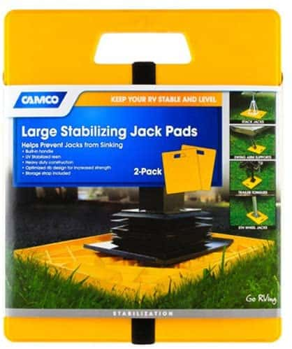 13. Camco Large 44541 RV Stabilizer Jack Pads