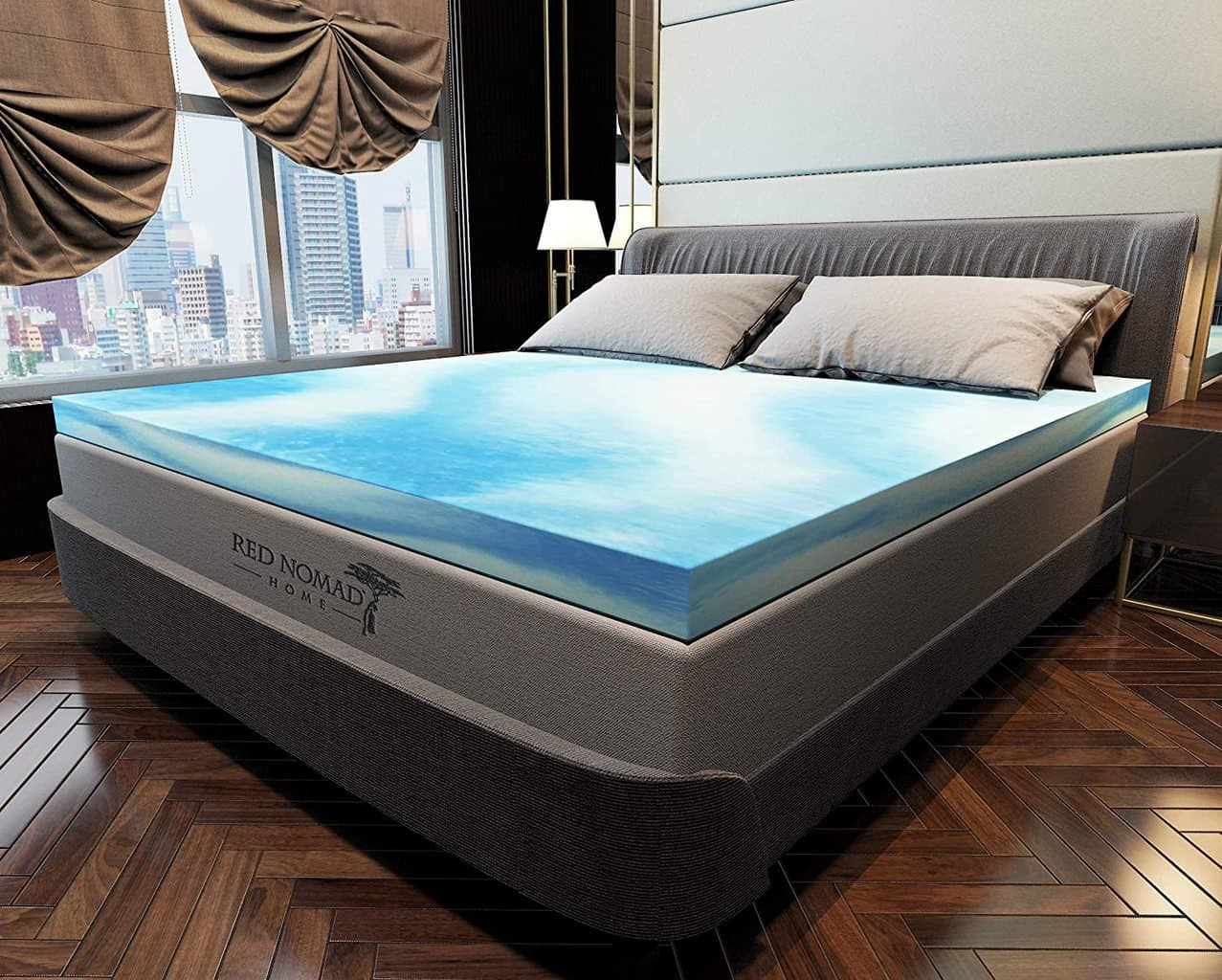 12. Red Nomad Gel Memory Foam Mattress 2 inches Pad