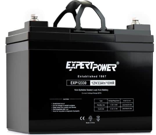 15. ExpertPower 12v 33ah Deep Cycle Battery