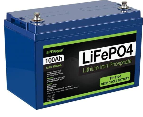 18. ExpertPower 12V 100Ah LiFePO4 Deep Cycle Battery