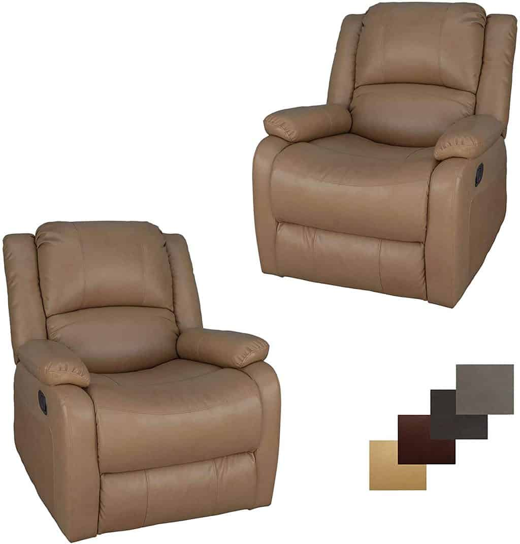 2. Charles Swivel Glider RV Couch 30""