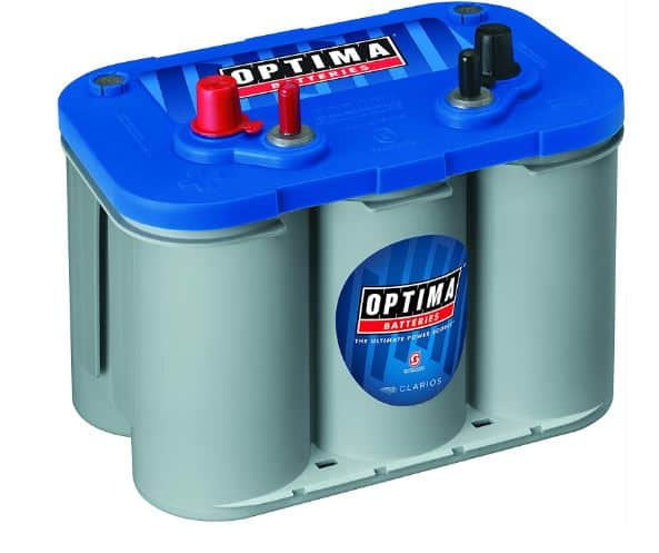2. Optima 8016-103 D34M BlueTop Starting and Deep Cycle Marine Battery
