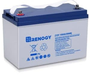 Renogy 12V 100AH Deep Cycle Hybrid Gel Battery