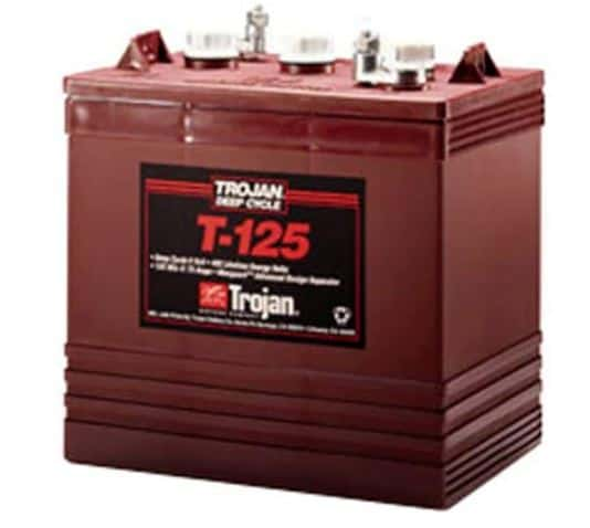4. Trojan 6V Battery T-125 240Ah Flooded Lead Acid GC2 Deep Cycle Battery