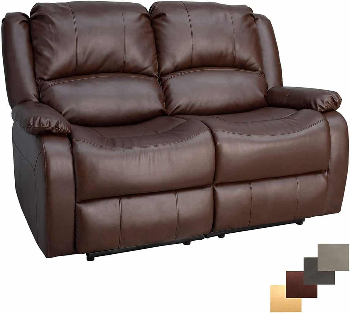 6. Charles Double Wall Hugger Couch 58""