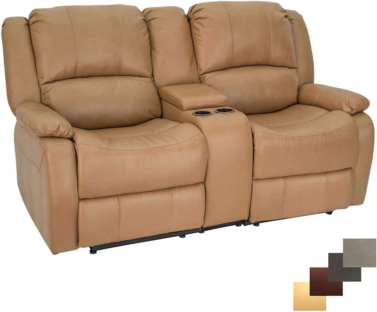 9. Charles Double Wall Hugger Couch 67""