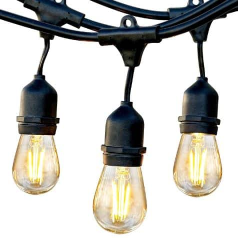 Water-repellent, Hanging, Dimmable Brightech Ambience Pro RV Outdoor String Lights