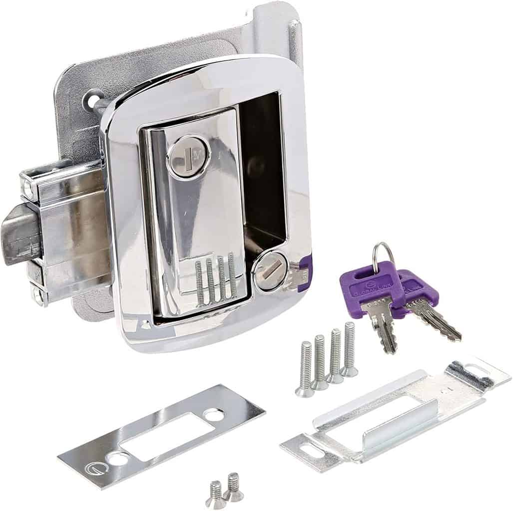 AP Products 013-572 Chrome All Metal Entrance RV Lock