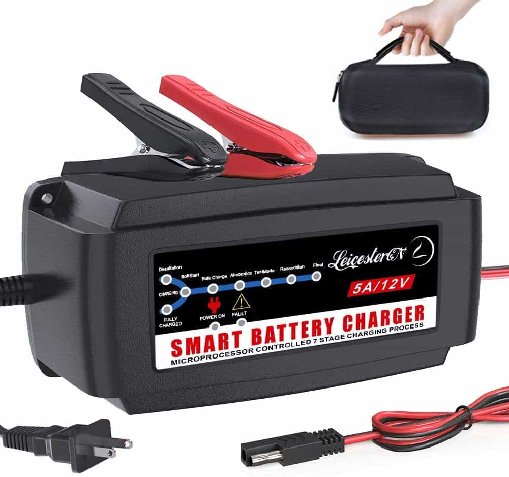 10. LEICESTERCN Automatic Battery Charger