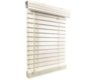 US Window And Floor 2 Faux Wood 22.5 W x 36 H, Inside Mount Cordless Blinds