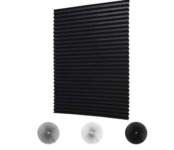 LUCKUP Wireless Light Filtering Pleated Blind with Fabric Shade
