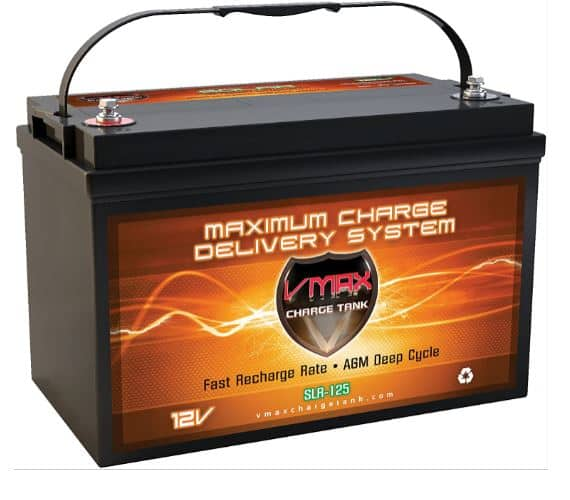 Vmaxtanks VMAXSLR125 Rechargeable Deep Cycle Battery