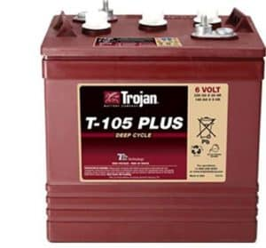 Trojan T-105 Plus 6V Deep Cycle Flooded