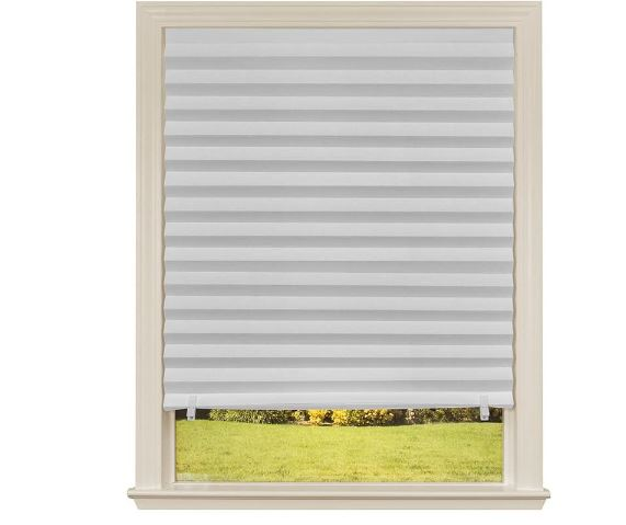 Original Light Filtering Pleated Paper Shade, White
