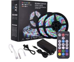 Richsing LED Strip Lights Indoor LED Lights Water-repellent and Easy Installation