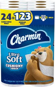 16. Charmin Soft Cushiony Touch Toilet Paper