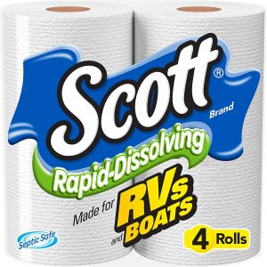 Scott 4PK Rapid-Dissolving RV Bath Tissue, Toilet Paper