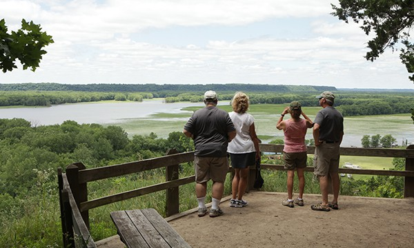 Viewing the Mississippi Palisades State Park