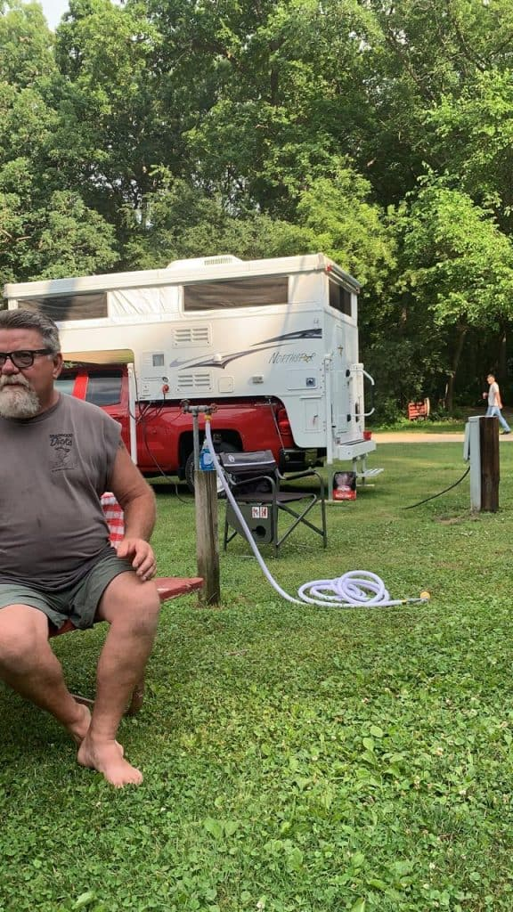 Water and Electric Hookup for RVs