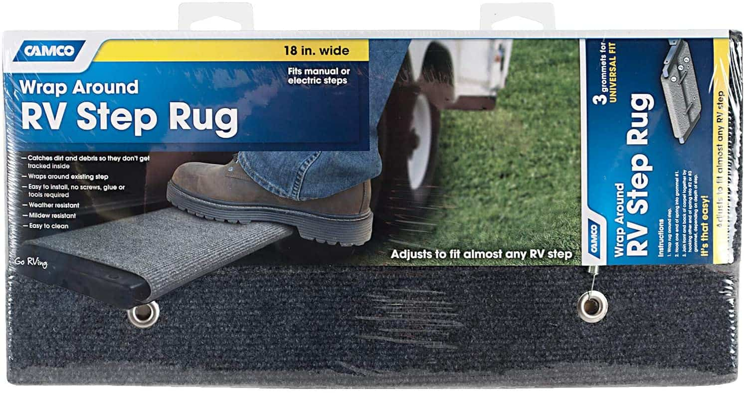 Camco 42925-A Gray Step Rug