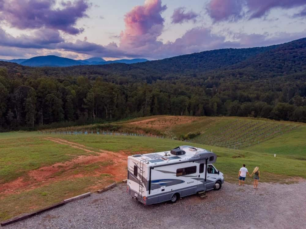 park your rv in flat surface
